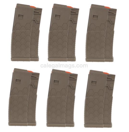 10/20 HEXMAG AR-10 Magazine FDE *6 PACK*