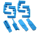 Hexmag HexID Nimbus Blue Magazine Follower / Latch Plate (4 Pack)