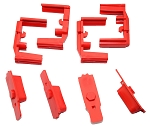 Hexmag HexID Lava Red Magazine Follower / Latch Plate (4 Pack)