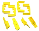 Hexmag HexID Hazard Yellow Magazine Follower / Latch Plate (4 Pack)