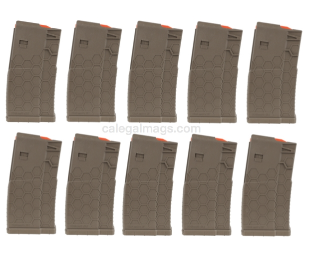 10/20 HEXMAG AR-10 Magazine FDE *10 PACK*